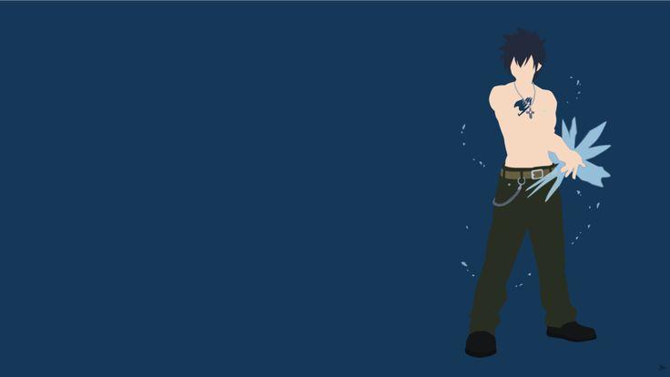 Sasuke Minimalista Fondo: Gray Fullbuster (Fairy Tail) Minimalista Wallpaper Por