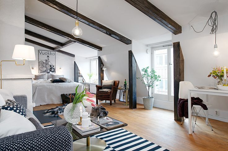 Modern apartment Charming Light Flooded Attic Apartment in Gothenburg, Sweden