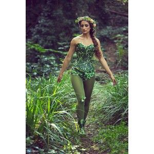 Ivy costume corset/ Mother nature for cosplay fancy dress Halloween. Size 8-10