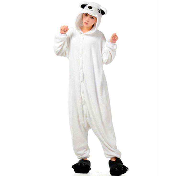 DHL Boys and Girls Adult Winter Cartoon Animal White Polar Bear Kigurumis Pajamas Onesie Costume For Halloween Party christmas - Baby clothes | @giftryapp