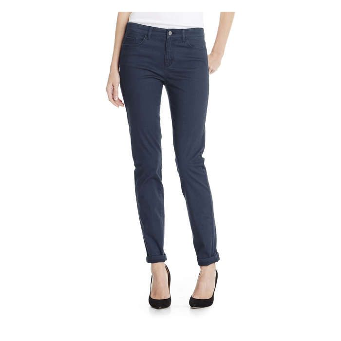 Ultra Slim Satin Pant from Joe Fresh. Give your denim the day off. Satin takes centre stage in our new, stylish way to wear the 5 pocket pant.  Only $16.94.
