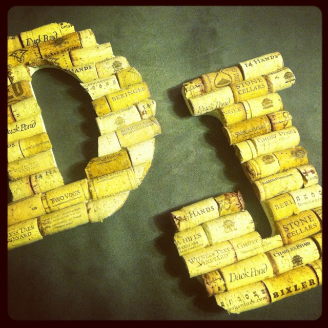 Wine cork monograms