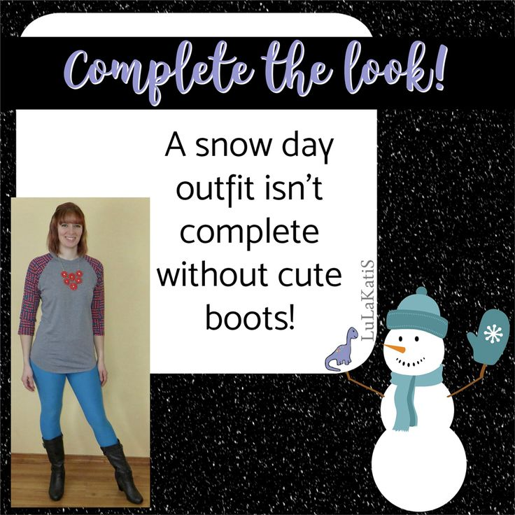 Post 8  We talked about Randy and leggings to be warm, cozy, relaxed, and cute!  What we didn't talk about was how to complete your snow day outfit!  The longer sleeves on the Randy help you stay warm and your leggings will also keep your cozy.  Add some boots and an AMAZING accessory to pull everything together!  The pop of color from your accessory, makes it less boring and breaks the snow day mundane!  What;s your favorite way to complete your snow day look?