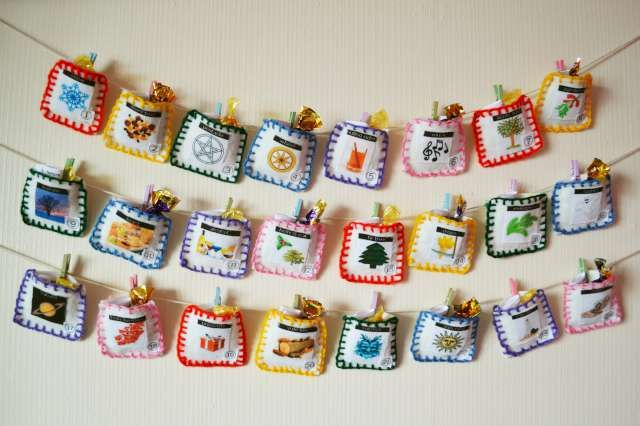 Home-made advent calendar