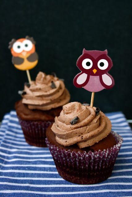 Schoko Cupcakes mit Crunchy Topping