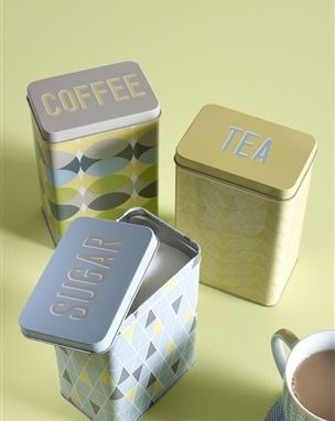 Geo Square Storage Tins Set Of 3 from Next