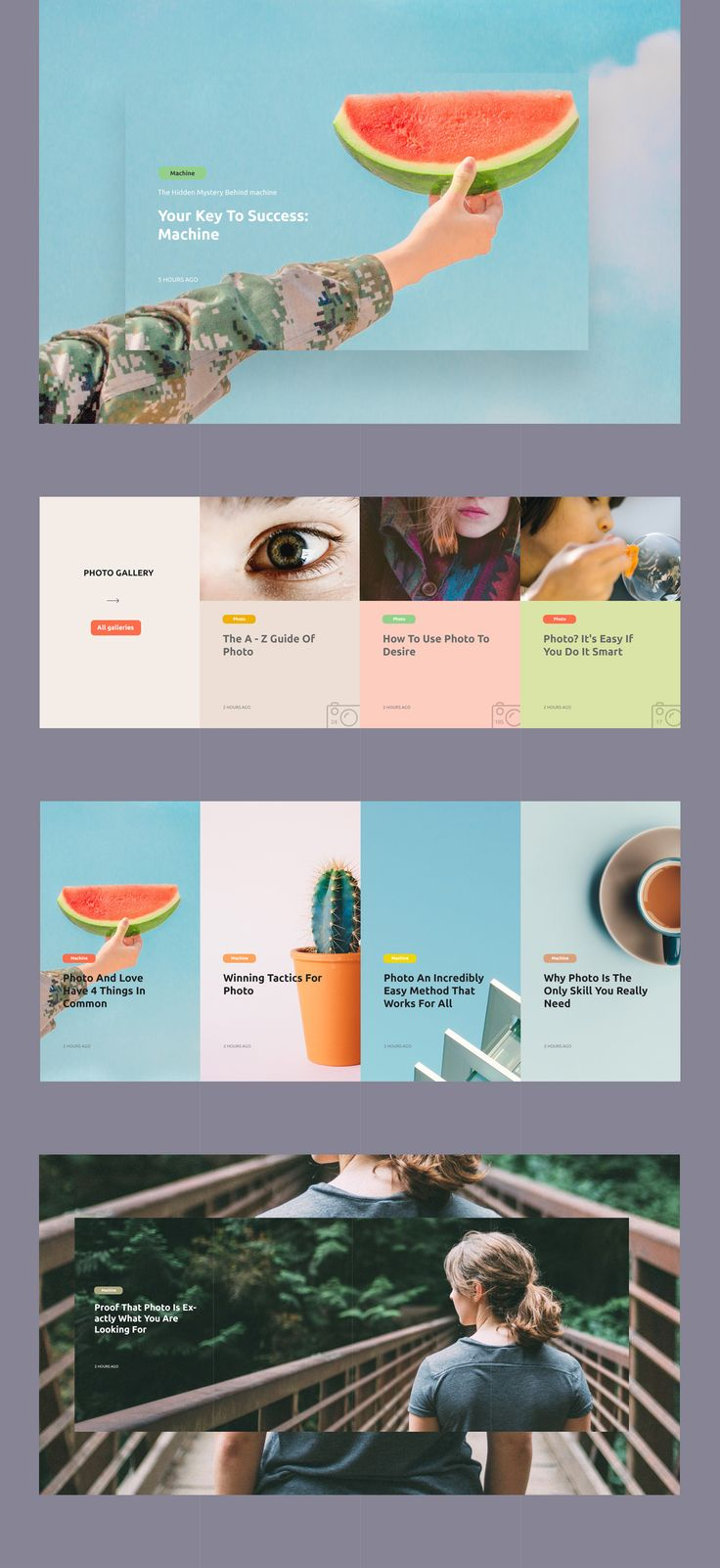 clean, colorful webdesign