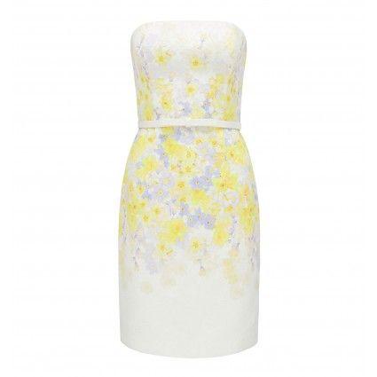 Mila Strapless Jacquard Dress Main Image