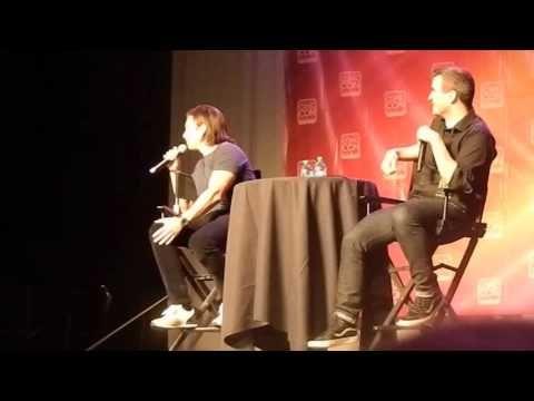 Sebastian Stan speaking Romanian to a fan (SLCC15) - YouTube