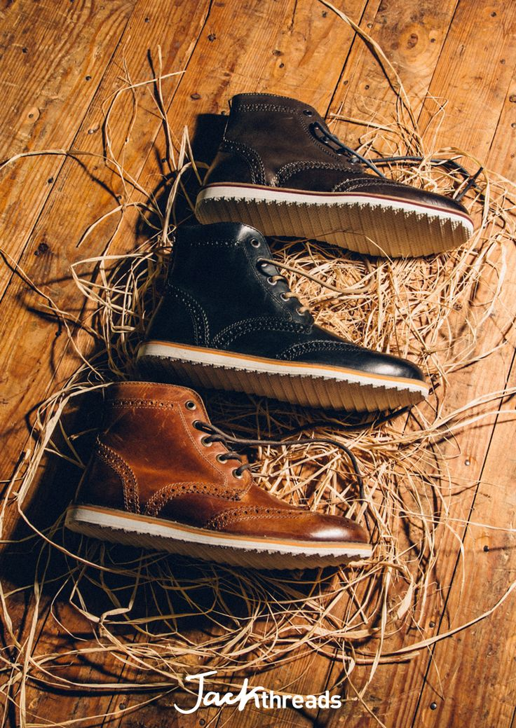 These boots are perfect. The wingtip detailing is dressy, but a sawtooth sole gives them an edge so you can wear them every day. Pair them with jeans and chinos for the win.