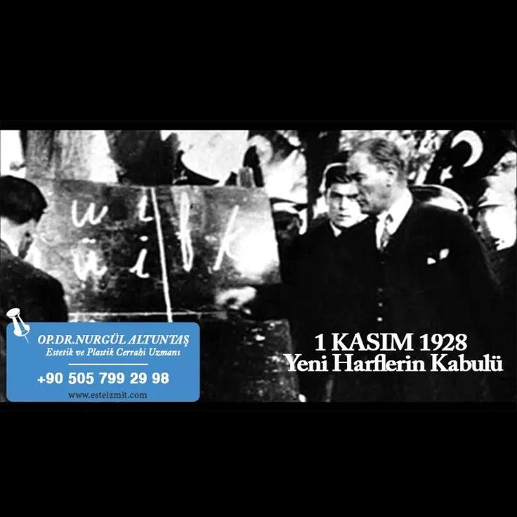 Türkler tarih boyunca Göktürk,Uygur, Arap ve dayatma yoluyla Kiril alfabesini kullanmıştır. 1925 te Azeri Türkleri latin alfabesini kabul etmiş sonrasında 1 kasım 1928 de ülkemiz Başöğretmen Atatürkün önderliğinde latin alfabesine geçmiştir. Diğer alfabelere göre Türkçe nin yapısını daha kolay yansıtabildiği ve daha kolay öğrenildiği için okuma yazma oranının artışını da olumlu etkilemiştir. #harfdevrimi #1kasım
