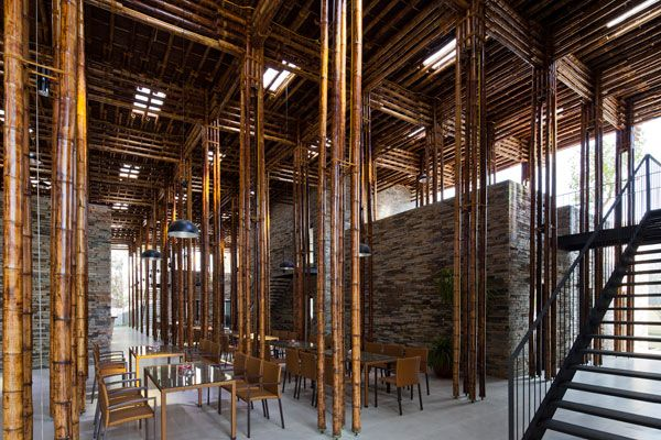 Son La in northern #Vietnam. Constructed with locally (10 kms away) sourced #stone and #bamboo. #Sustainable #hotel