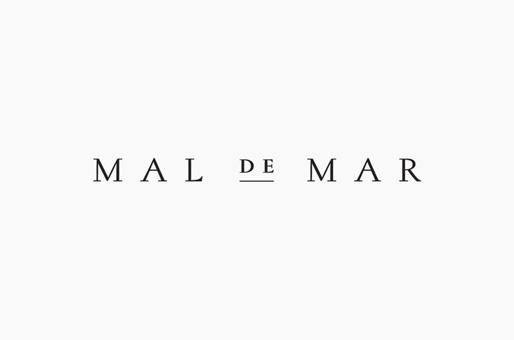 Logo for on-line art, design, architecture and photography journal Mal de Mar designed by Face