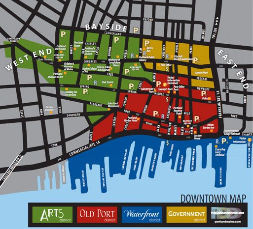 Map of Downtown Portland Oregon | MUST SEE/DO SIGHTSEEING