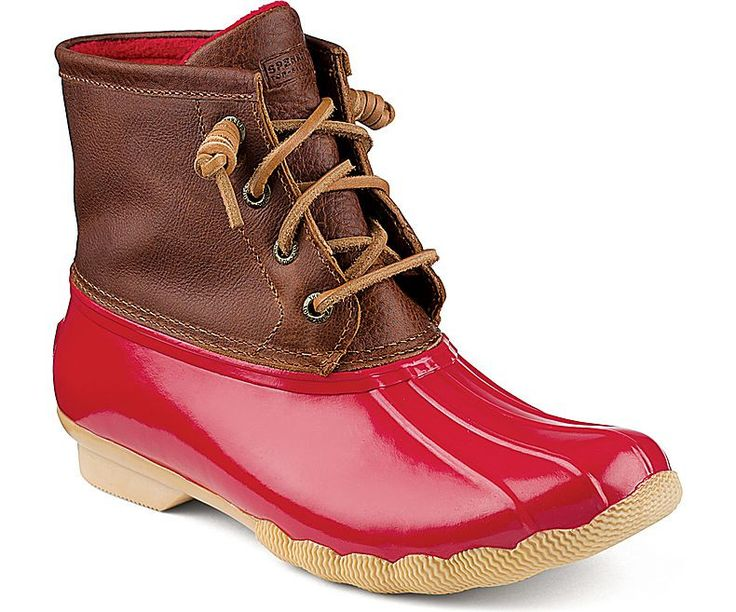 Saltwater Duck Boot Tan / Red