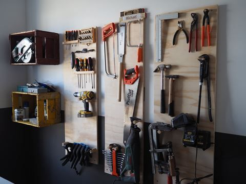 DIY tool-storage solution. An easy way to organize all your tools  Check the webside for a guide