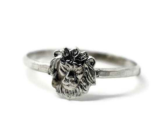 Sterling Silver Lion Ring, Handmade Sterling Silver Ring, Animal Ring on Etsy, $27.00
