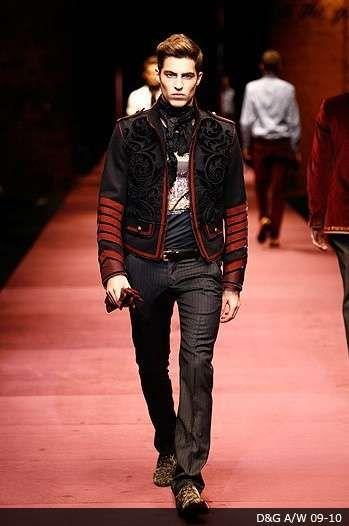 Flamboyant Male Rockstar Fashion - Punk Sophisticated at Gucci Fall 2009 Menswear Show (GALLERY)