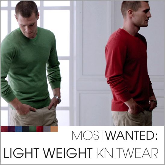 Stylish warmth with light weight knitwear.