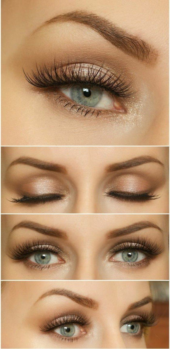 Smokey Eye Make-up Ideen, wie man blaue Augen macht