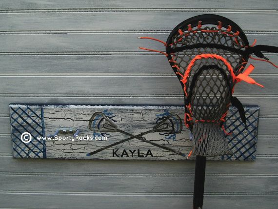 Lacrosse Stick Hanging Rack Sports Decor Organizer by sportyracks, $45.00