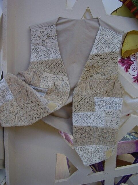 Piecing bits of lace