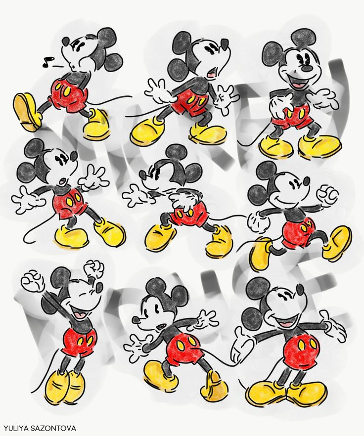 Mickey Mouse characters #character #mickey mouse #drawing #sketch #disney