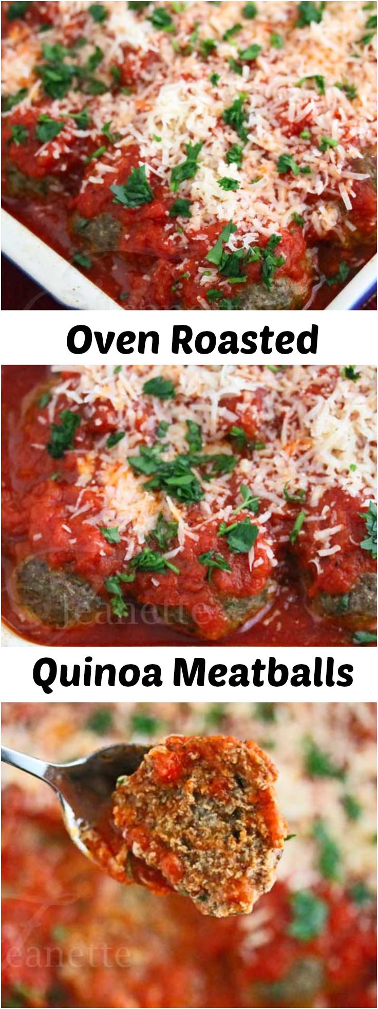 Oven Roasted Quinoa Meatballs  (Jeanette's Healthy Living)