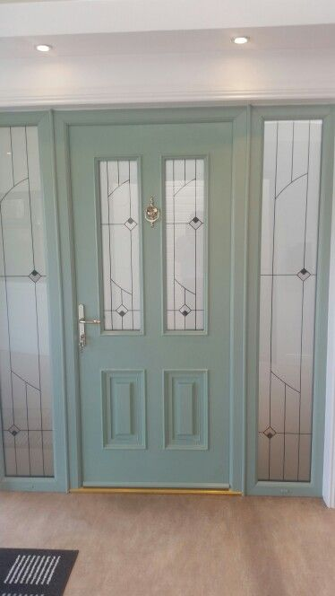 Palermo Chartwell Green Palladio Front Door With 2no