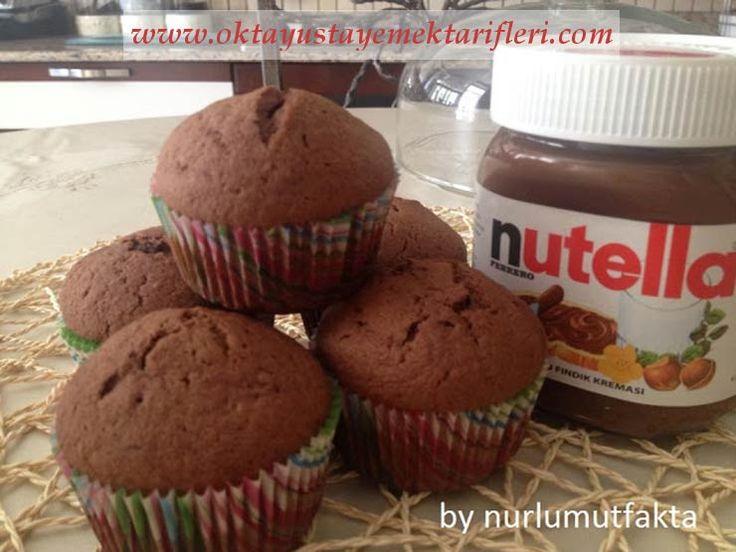Muzlu Nutella'lı Muffin - Oktay Usta, Muzlu Nutella'lı Muffin nasıl yapılır yapılışı yapımı hazırlanışı kolay pratik resimli