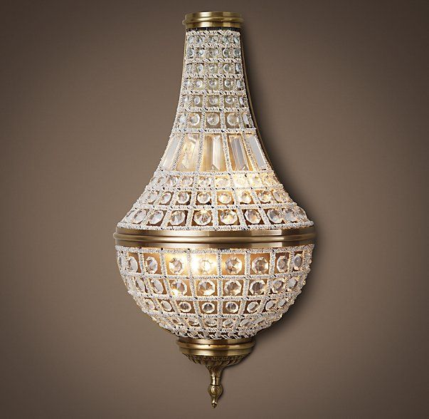 *similar* Sconces USD 475 19TH C. French Empire Crystal Sconce 26