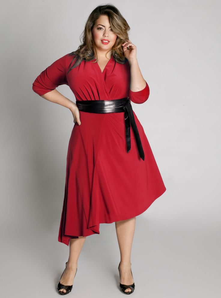 3 4 sleeve red dress urban