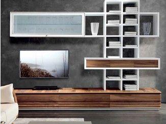 Parete attrezzata componibile laccata in legno D-103   Parete attrezzata - Dale Italia