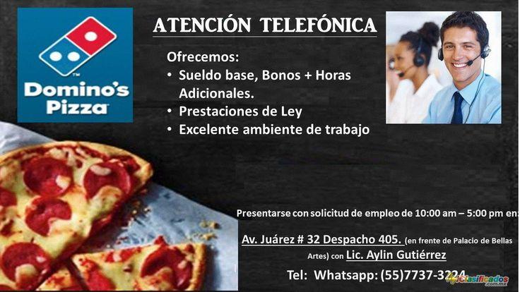 Ejecutivos Telefonicos, medio tiempo, DOMINOS PIZZA - iclasificados.com.mx
