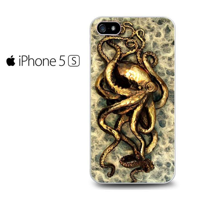 Gold Octopus Iphone 5 Iphone 5S Iphone SE Case
