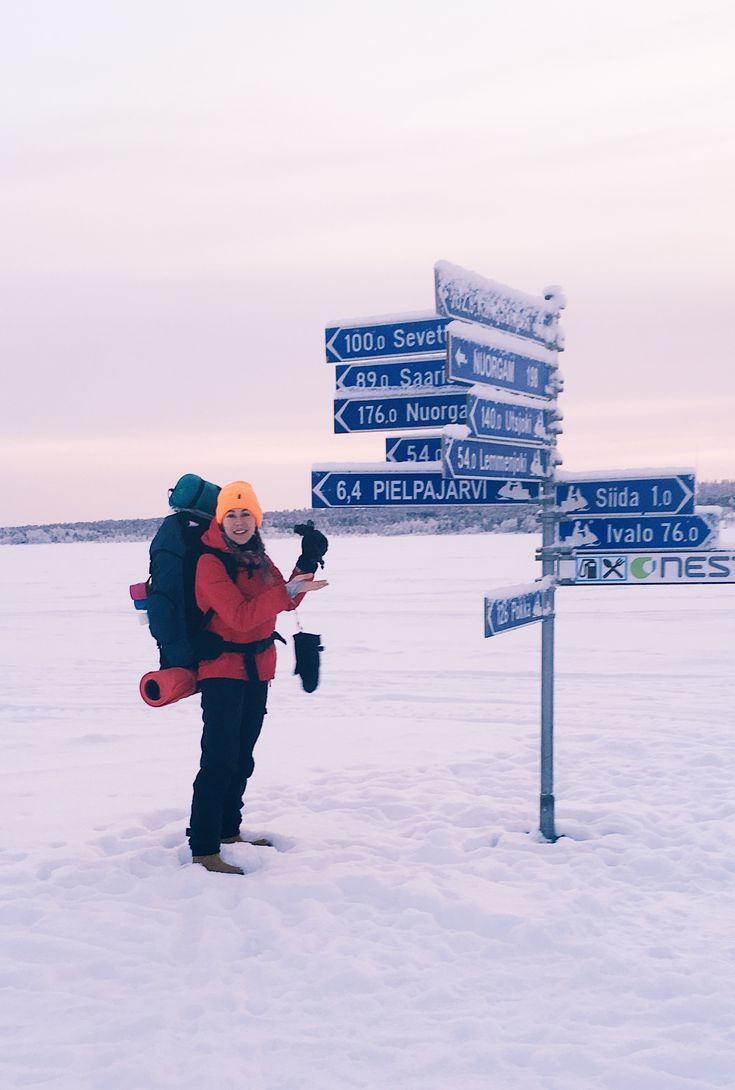 ※ A signpost in the middle of a frozen lake. Something amazing. As a result, Finland in general, but in particular Lapland gains an additional km2 of space to use. As a place for hiking, but also routes for cross-country skiing or snowmobile tracks. Who of you tried that kind of attractions? ❄️🤟