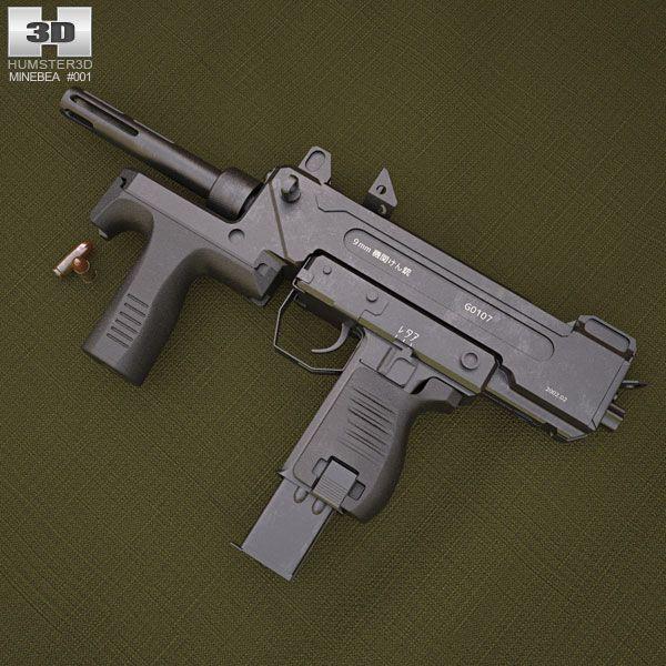 3d Model Of Minebea Pm 9 Guns Ammo Airsoft Guns Airsoft Sniper