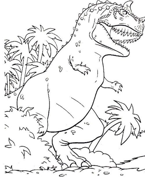 Dinosaur T Rex Coloring Pages For Kids
