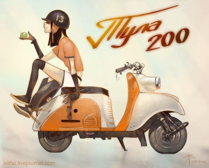 Tula-200 scooter made in USSR by 600v