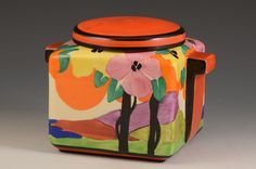 Andrew Muir | Clarice Cliff, Art Deco Pottery, Moorcroft and 20th Century Ceramics DealerClarice cliff APPLIQUE PALERMO STAMFORD BOX C.1931 More