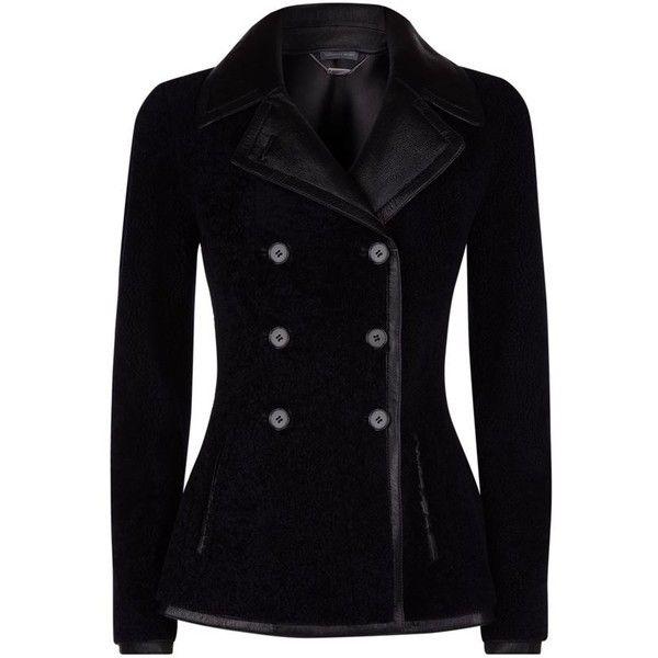 Alexander McQueen Sheepskin Jacket (£3,450) ❤ liked on Polyvore featuring outerwear, jackets, coats, coats & jackets, blazers, goth jacket, alexander mcqueen jacket, alexander mcqueen, black fitted jacket and bear jacket