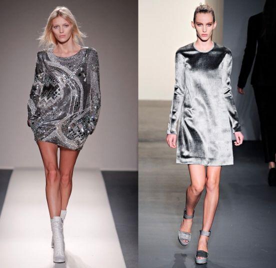 Модный тренд: металлический блеск / фото 2016