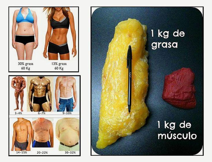 10 diferencias entre perder peso y perder grasa: Músculo Vs Grasa ¿Que quieres perder tú? - ConsejosdeSalud.info