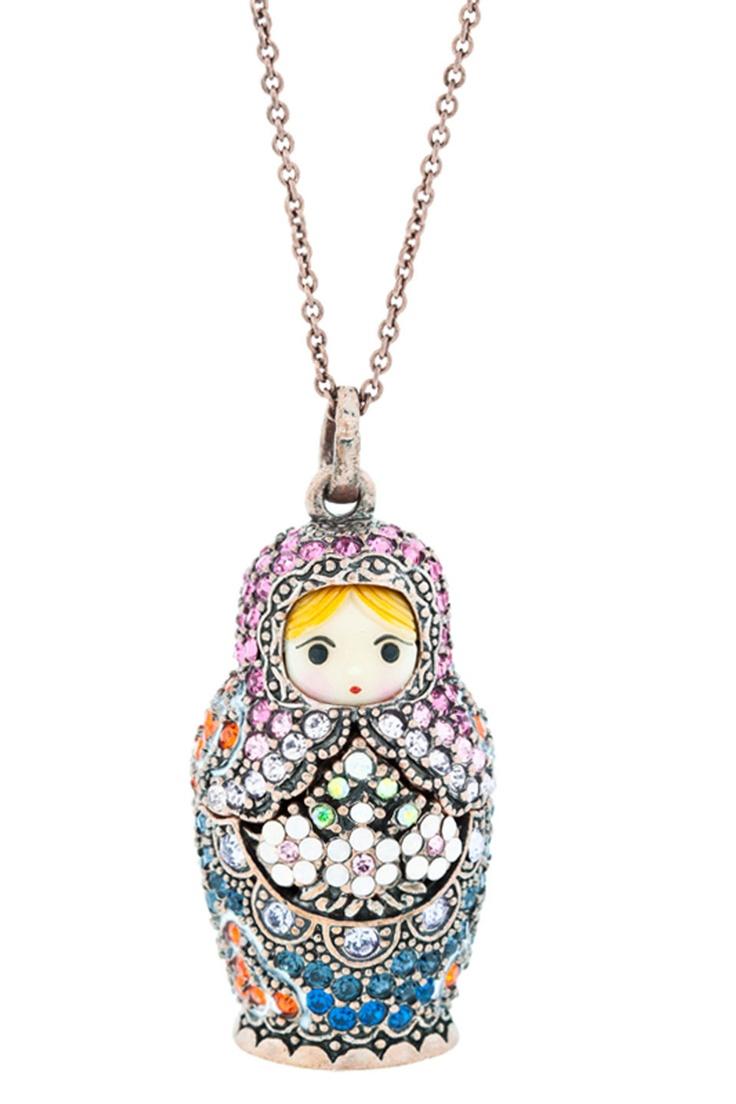 Mamuska Necklace | matryoshka jewlery | Pinterest ...