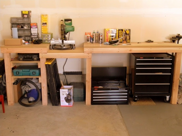 Beautiful Split The Tower Toolbox And Store Underneath Bench. Also Sawhorse, Trashcan