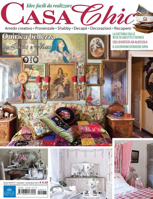 Marzia sofia salvestrini shabby chic casa chic casa romantica magazine pinterest - Casa romantica shabby chic ...