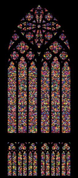 Gerard Richter, stained glass in the Cathedral of Cologne. From original old stained glass windows colours ! #pintowingifts @Gifts.com