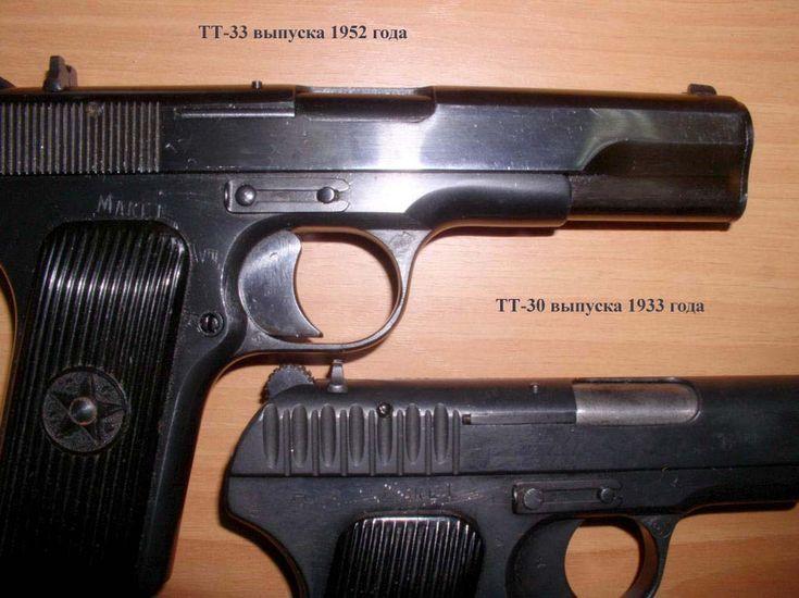 Пистолеты ТТ 1930 и ТТ 1933 (кликните по изображению, чтобы увидеть фото полного размера)