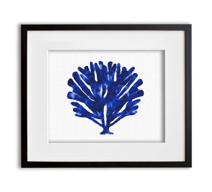 Cobalt Blue Coral Art Print Watercolor Coastal Wall Art 8x10 or 11x14 by ProjectCottage on Etsy https://www.etsy.com/listing/241939919/cobalt-blue-coral-art-print-watercolor