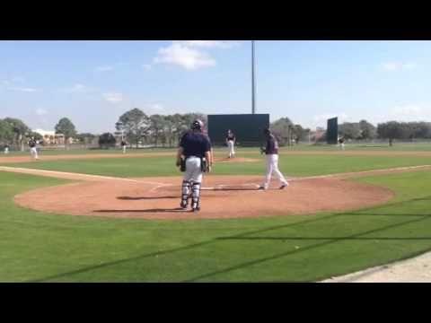 Twins prospect Alex Meyer pitches to SS Daniel Santana